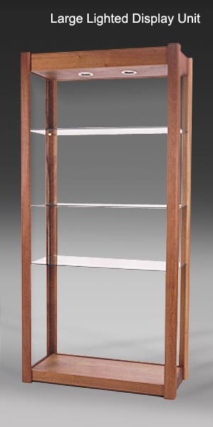Wonderful North Cove Design | Solid Wood and Glass Shelving Units with  VT55