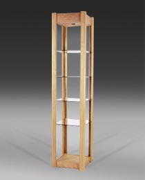 north cove design solid wood and glass shelving units with halogen rh northcovedesign com wood and glass shelf support ace hardware wood and glass wall shelves