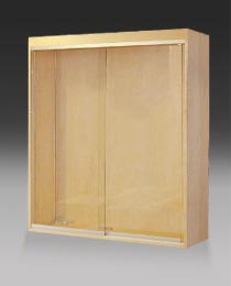 North Cove Design Solid Wood And Glass Wall Mounted Display Cases